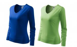 Bluza dama set 2 buc. albastru regal + verde iarba