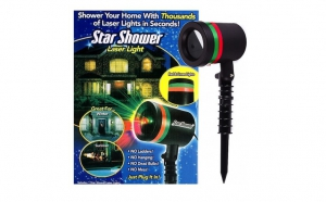 Proiectie de stele pe casa ta: Proiector laser pentru exterior sau interior, rezistent la apa