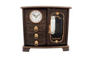 Ceas de masa, cu trei sertare si ceas,