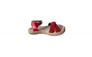 Sandale pentru plaja, EHA, cu talpa joasa, culoare rosu,