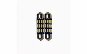 Set 2 x Bec LED 36mm, 12LED SMD, 12V