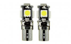 Set 2 x Becuri auto LED, Canbus, 5 SMD, 12V