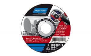 Disc pentru taiere inox Norton, 115 x