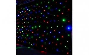 Instalatie luminoasa Perdea tip Ploaie pentru exterior, 3mx1m, 200 leduri, cablu gros,  la doar 89 ron in loc de 159 ron