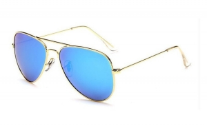Ochelari de soare Aviator Bleu - Auriu