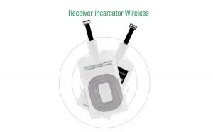 Incarcator Wireless Receiver 5V 1A Qi pentru iPhone, Receiver Wireless 5V 1A incarcare telefon iPhone Apple