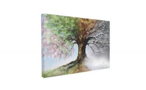Tablou Canvas Four Season Tree, 60 x 90 cm, 100% Bumbac