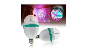 Bec rotativ disco LED