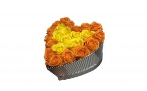 Trandafiri din sapun parfumati - inimioara 22 cm, i1-010