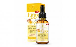 Ser pentru fata cu colagen si vitamina E cu extract de ou, pentru hidratare complexa si fermitatea fetei, Aichun Beauty, 30 ml