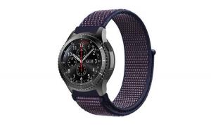 Curea Textila Premium MTP Indigo 22mm pentru Samsung Galaxy Watch 46mm
