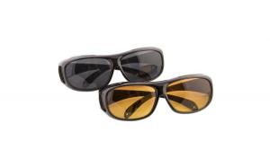 Set 2 perechi de ochelari pentru condus zi/noapte, protectie UV si tehnologie anti-orbire