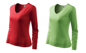 Bluza dama set 2 buc. rosu + verde iarba