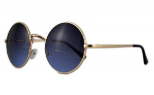 Ochelari de soare Rotunzi Retro John Lennon Bleumarin degrade - Auriu