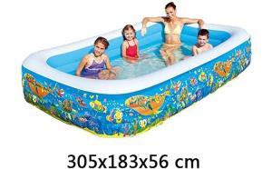 Piscina Gonflabila cu 3 Inele family Pool, 305 x 183 x 56 cm