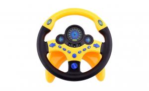 Jucarie interactiva Volan cu sunete si lumini, se fixeaza pe suprafete, rotire 360 grade