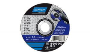 Disc pentru taiere metal Norton, 125 x