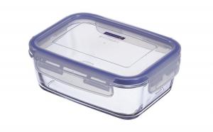 Vas sticla termorezistent+capac 16x11x6cm Pure Box