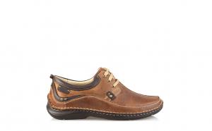 Pantofi barbati, piele naturala 317, Culoare-Negru, Maro