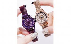 Ceas de dama MBrands, cadran rotativ 360 grade, bratara milaneza cu inchidere magnetica- diverse culori