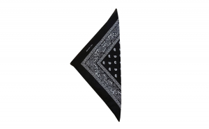 Esarfa tip bandana, cu imprimeu diverse culori, bumbac, 54 x 54 cm