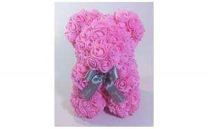 Ursulet floral decorat manual cu