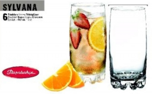 Set 6 pahare long drink 387ml Sylvana
