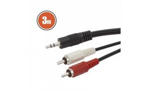 Cablu RCA / JACKfisa 2 x RCA-fisa 3,5 st