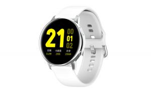 """Ceas Smartwatch TND Wear SG2, Rezistent la apa IP68, Heart Rate, ECG, Oxygen Control, Pedometru, ecran 1.19"""" AMOLED, baterie 7 zile, 230mAH, alb"""