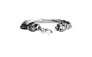 Bratara argint 925 cu capete de lei