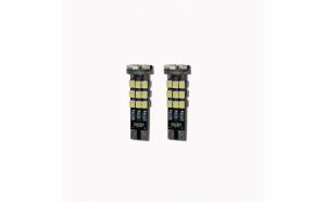 Set 2 x becuri led bulb T10 W5W 24 SMD Canbus, lumina alba