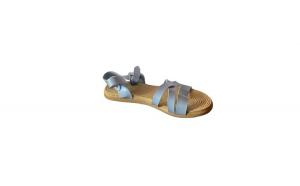 Sandale cu talpa joasa, EHA, pentru dama, culoare albastru