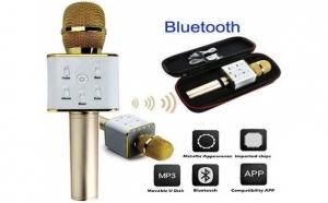 Microfon wireless - karaoke - profesional cu boxe si bluetooth