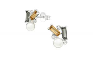 Cercei argint, Geometric cu cristale Swarovski Multicolor, A4S38432