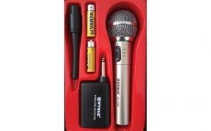 Microfon Wireless cu receiver - metalic