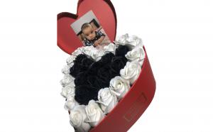Trandafiri din sapun parfumati - inimioara 25 cm, i2-07