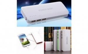 Baterie externa 20000 mah, cu 3 usb-uri, pentru telefoane tablete camere foto/video, model c24, la doar 65 RON in loc de 165 RON