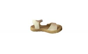 Sandale pentru plaja, cu talpa joasa, culoare alb, EHA