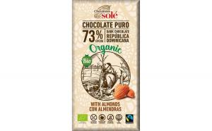 Ciocolata neagra BIO 73% cacao, cu