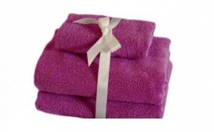 Set 3 prosoape de baie, bumbac 100%, culori vii la doar 46 RON in loc de 99 RON