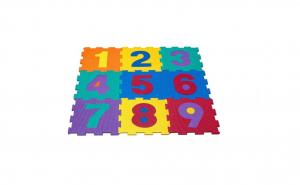 Puzzle Cifre de podea din spuma, 9 buc de 31.5x31.5 cm
