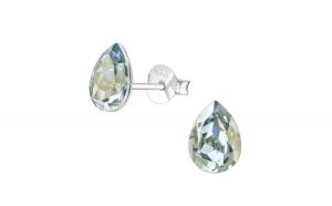 Cercei argint, Para cu cristale Swarovski Blue Shade, A4S38403