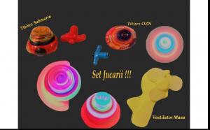 Set jucarii copii - Titirez OZN + Titirez  submarin + ventilator de mana