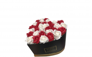 Trandafiri din sapun parfumati - inimioara 29 cm, i3-01