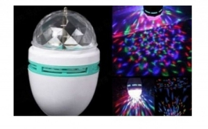 Bec rotativ multicolor LED