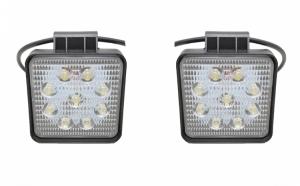 Set 2 proiectoare patrate LED Auto