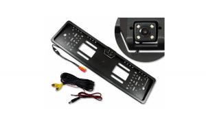 Suport numar auto cu camera video marsarier cu IR, unghi filmare 170 grade
