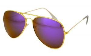 Ochelari de soare Aviator Mov Reflexii - Auriu