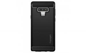 Husa de protectie Spigen, Rugged Armor, pentru Samsung Note 9, Negru