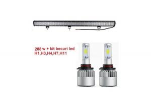 Ledbar 288w 12v FLOOD+ kit becuri led